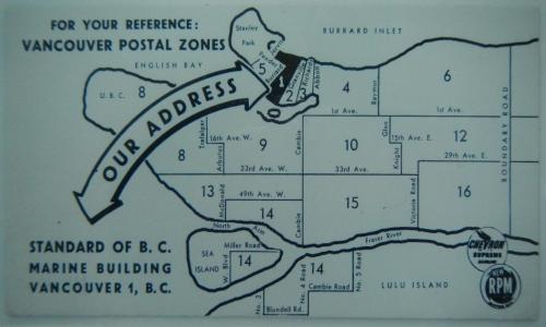 Postal Zones