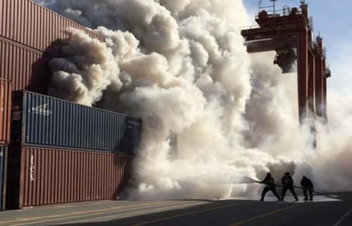 Vancouver Port Fire 4-3-2015