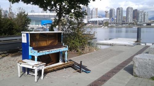 Vandalized Public Piano